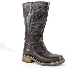 Vintage Frye Leather Mid Calf Brown Boots
